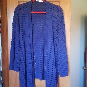 Purple Crochet Roxy Cardigan